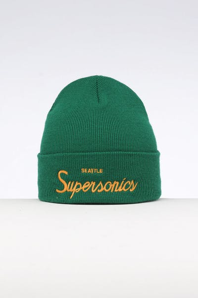 Mitchell & Ness Seattle Supersonics Special Script Knit Green