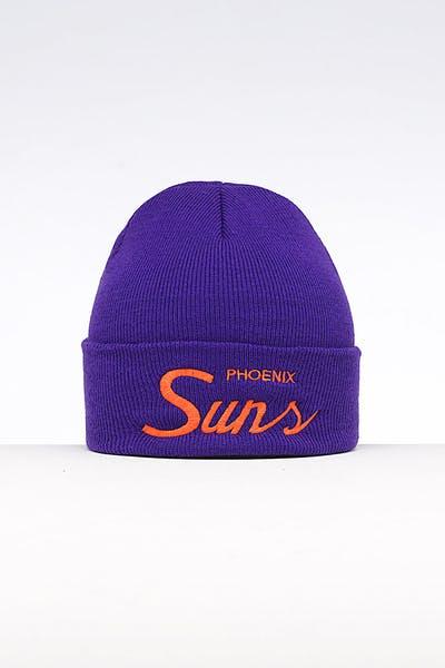 17630db7a5f6 Mitchell   Ness Phoenix Suns Special Script Knit Purple