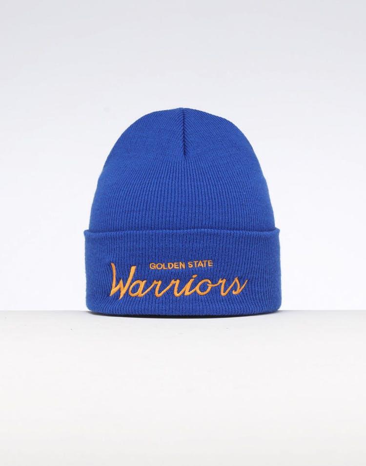 4547f25d2 Mitchell & Ness Golden State Warriors Special Script Knit Royal/Blue