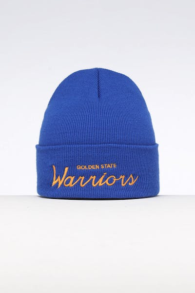 83e3b33c1d8 Mitchell   Ness Golden State Warriors Special Script Knit Royal Blue