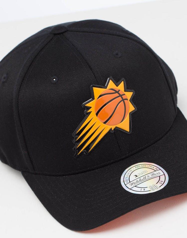 hot sales 8d3c9 de3d5 Mitchell   ness Phoenix Suns Chrome Logo Snapback Black