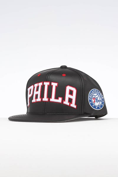 Mitchell & Ness Philadelphia 76ers Rapid Snapback Black