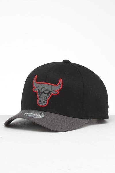 info for 2a406 cb259 Mitchell   Ness Chicago Bulls Reflective Duo II Snapback Black Grey ...