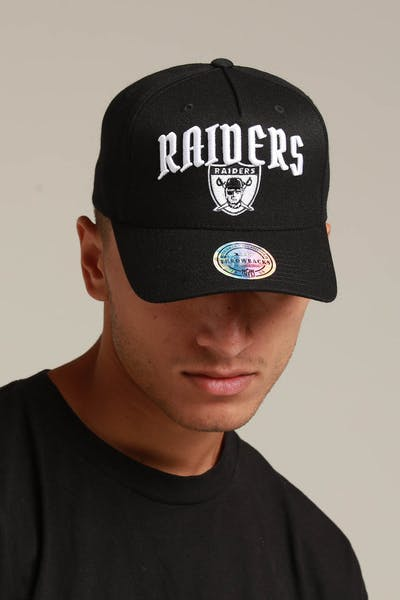 190aca32e40 Mitchell   Ness Raiders City Script 110 Snapback Black