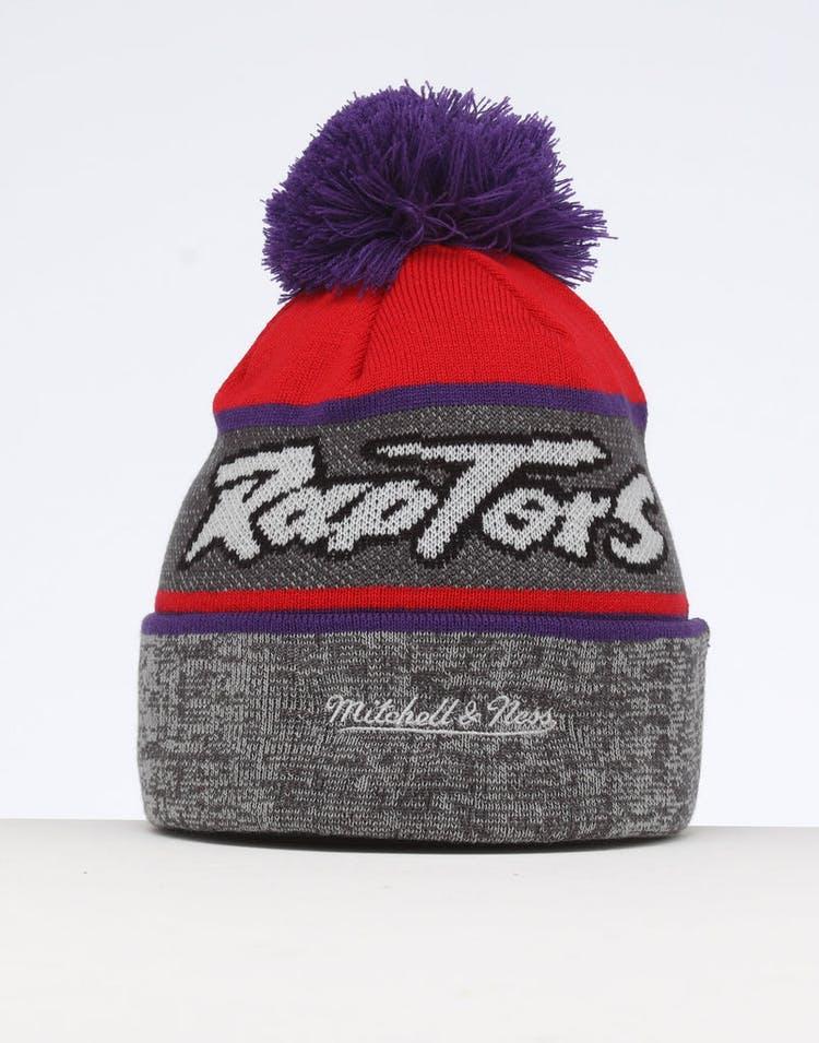 timeless design 3661e 9755f Mitchell   Ness Toronto Raptors Team Knit Beanie Black Purple
