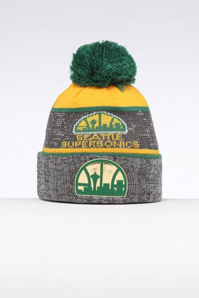 Mitchell & Ness Seattle Supersonics Team Knit Beanie Black/Green