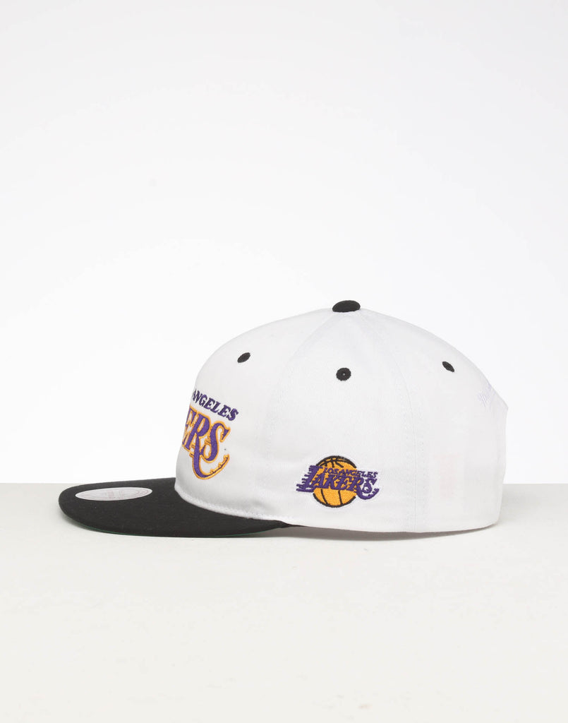 Maroon NBA Los Angeles Lakers snapback Hat Cap Mitchell /& Ness White