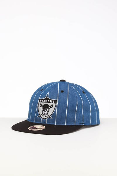 Mitchell & Ness Raiders Low Crown Retro Snapback Denim Pinstripe