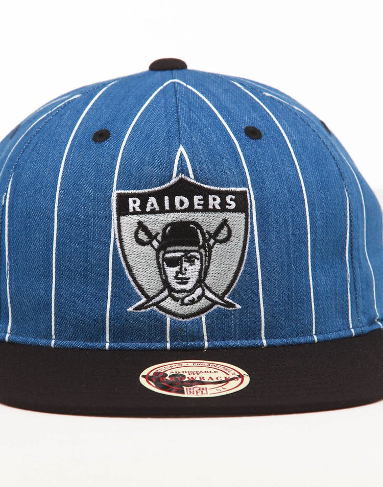 07d21c765 Mitchell & Ness Raiders Low Crown Retro Snapback Denim Pinstripe