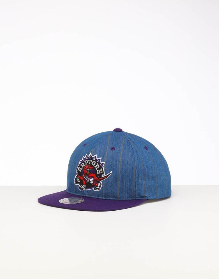 f2e772c7 Mitchell & Ness | Toronto Raptors Cap Blue | Denim Pinstripe | Mens –  Culture Kings