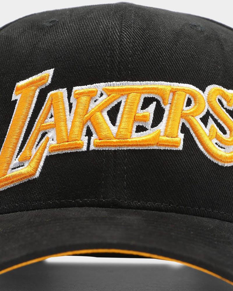 Mitchell & Ness Los Angeles Lakers Hardwood Classics Pro Crown Snapback Black