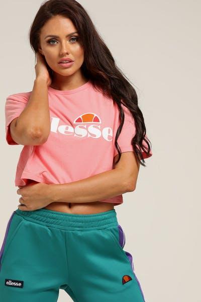 Ellesse Women s Alberta Crop Tee Pink 06a3d784e1a
