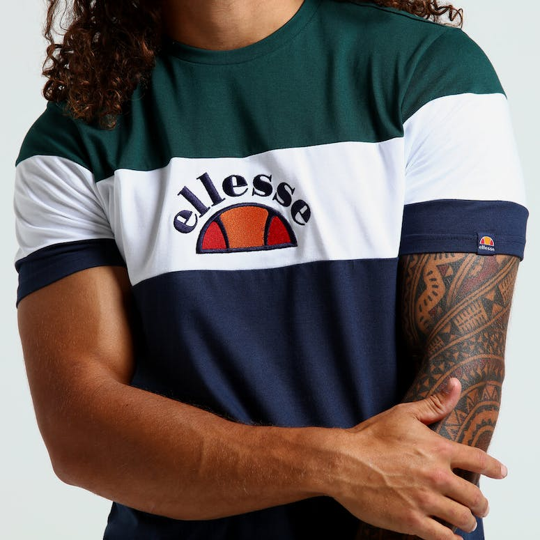 Ellesse Gubbio T-Shirt Navy Teal White – Culture Kings f4892eed7a8
