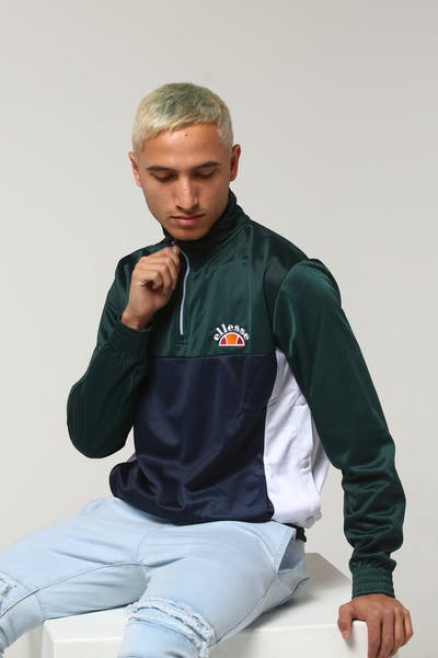 Ellesse Vetica 1/4 Zip Jacket Teal/White/Navy