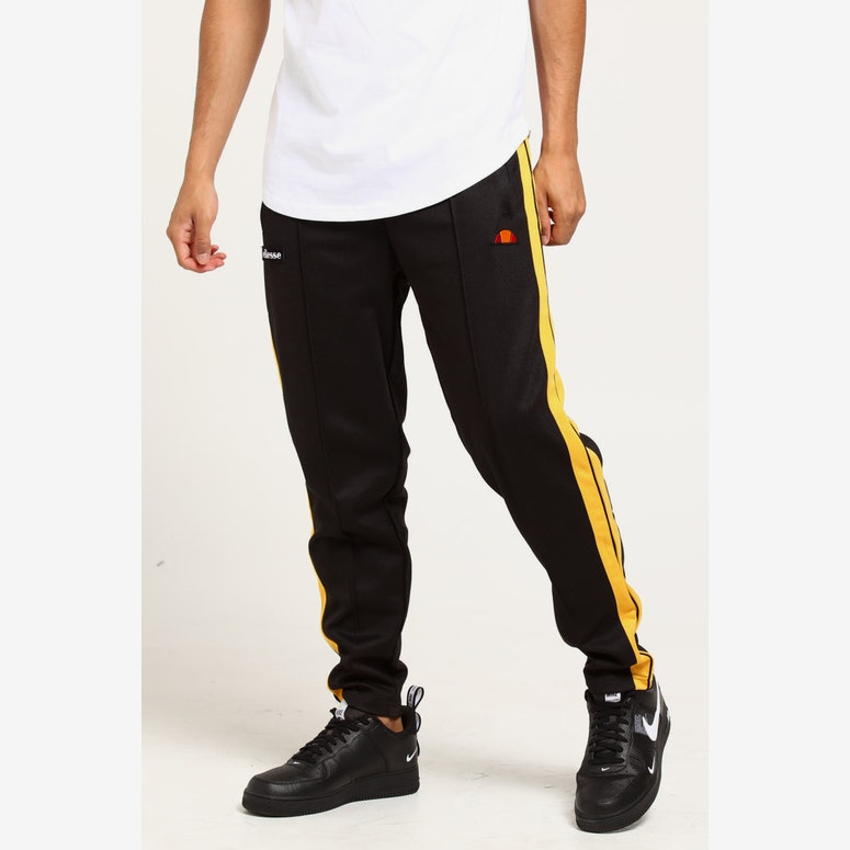 Ellesse Cassed Track Pant Black Yellow Culture Kings