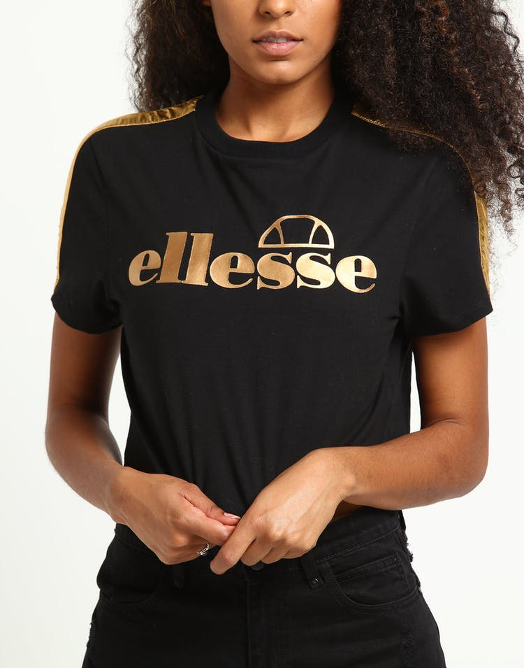 2dd7ff0f Ellesse Women's Giora Crop T-Shirt Black/Rose Gold