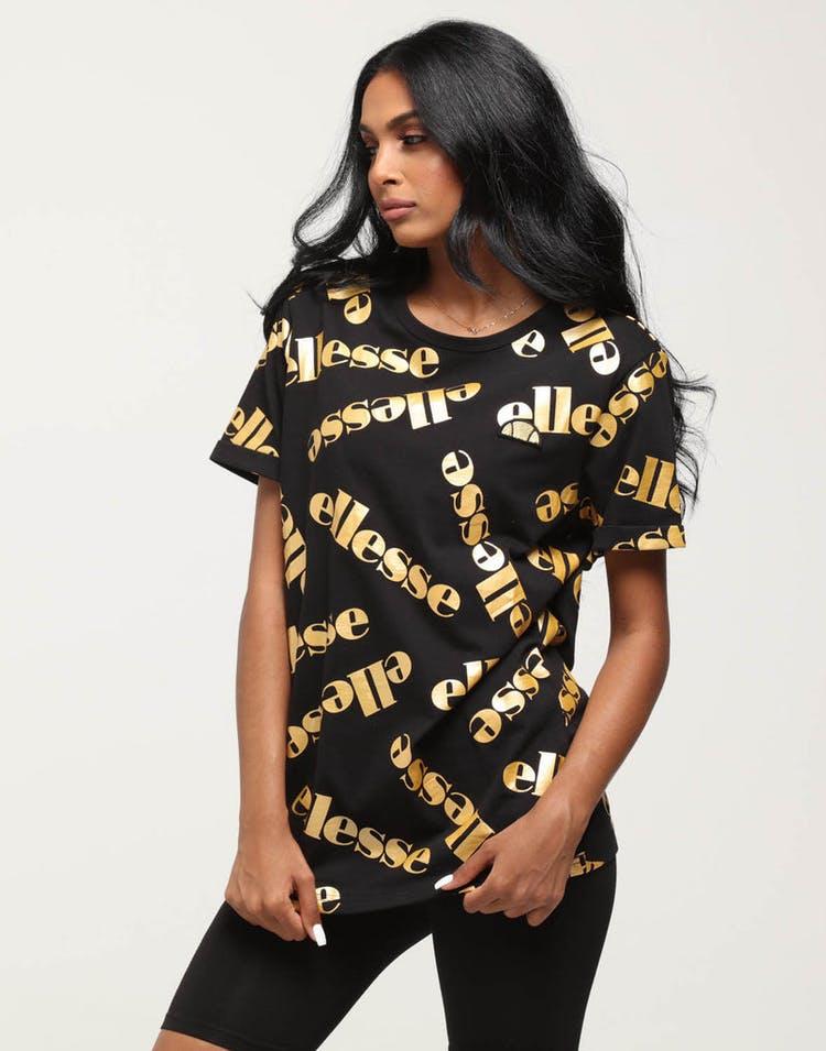 c542da04 Ellesse Women's Falona Tee Black/Gold