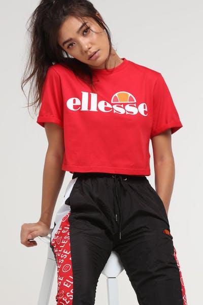 eafd53a1d40b1 Ellesse Women s Alberta Cropped T-Shirt Red