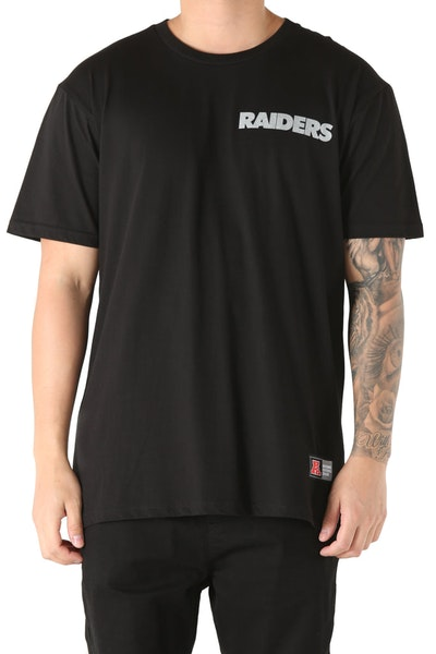 Majestic Athletic Oakland Raiders Foiler Tee Black/Silver