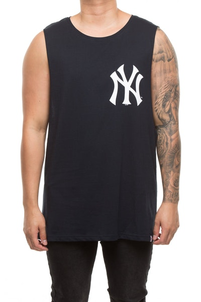 Majestic Athletic Yankees Walt Muscle Tee Navy