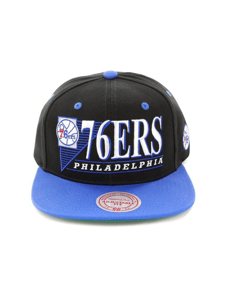 78230f8841e6af Mitchell & Ness Philadelphia 76ers Horizon Snapback Black/Royal – Culture  Kings