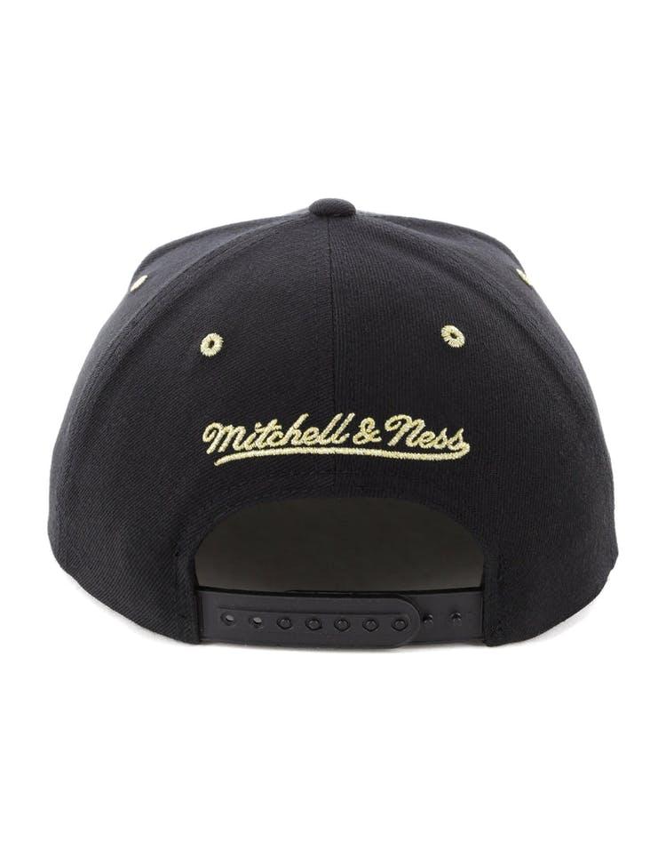 promo code 37c4a d7b76 Mitchell   Ness Boston Celtics Gold Standard Snapback Black Gold