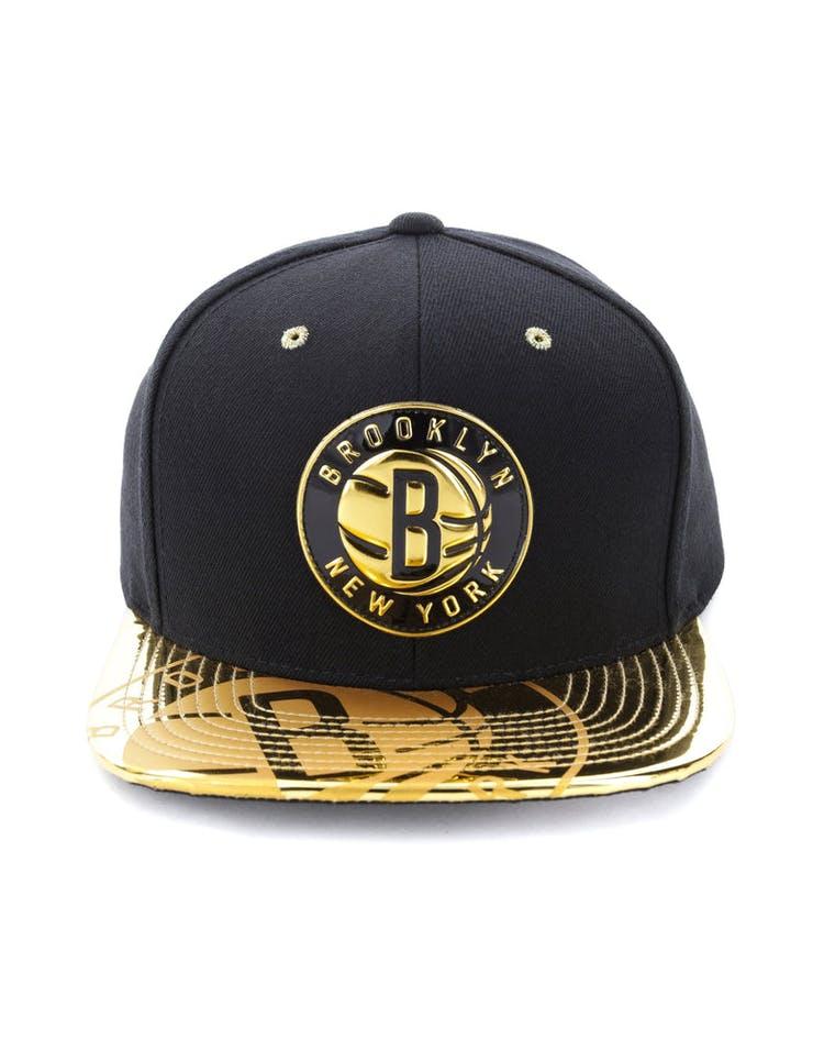 8a9fbdf7 Mitchell & Ness Brooklyn Nets Gold Standard Snapback Black/Gold – Culture  Kings