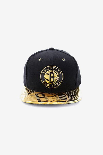 Mitchell & Ness Brooklyn Nets Gold Standard Snapback Black/Gold