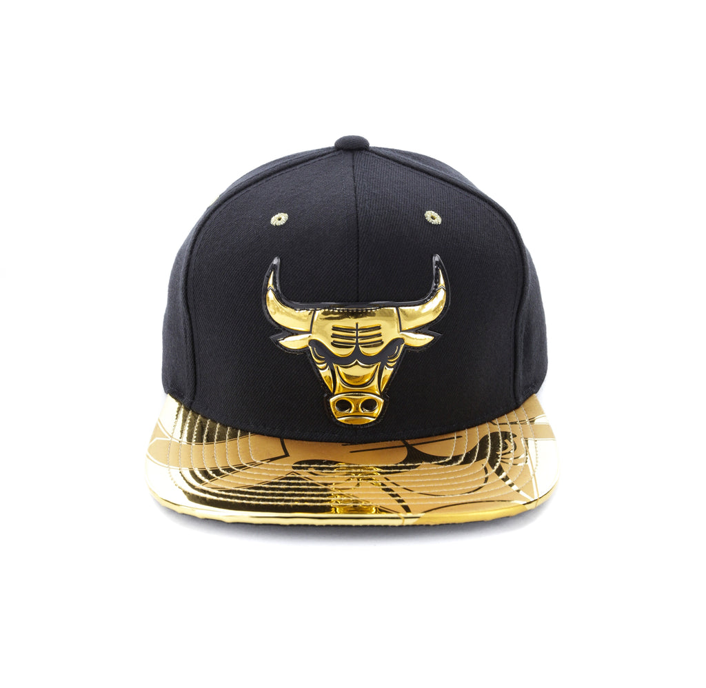 quality design ab37c 6ade1 discount code for mitchell ness chicago bulls gold standard snapback black  gold 9906f 60314