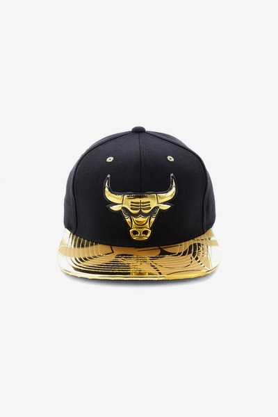 Mitchell & Ness Chicago Bulls Gold Standard Snapback Black/Gold