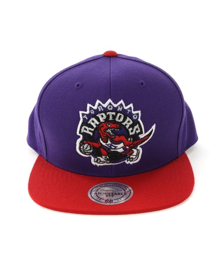 7a4427318c6b3 Mitchell & Ness Toronto Raptors Satin Fused Snapback Purple/Red