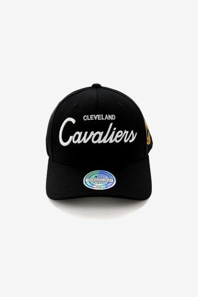 3e8ffef5bea Mitchell   Ness Cleveland Cavaliers 110 Team Script Snapback Black