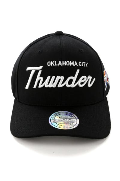 info for 9b24f 9a244 Mitchell   Ness Oklahoma City Thunder 110 Team Script Snapback Black