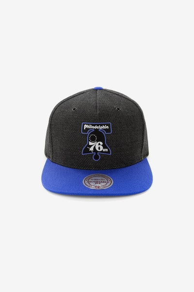 Mitchell & Ness Philadelphia 76ers Woven Reflective Snapback Charcoal/Royal