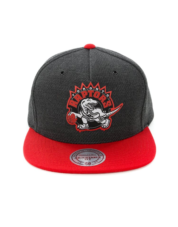 official photos af92f 60e7e Mitchell   Ness Toronto Raptors Woven Reflective Snapback Charcoal Red –  Culture Kings