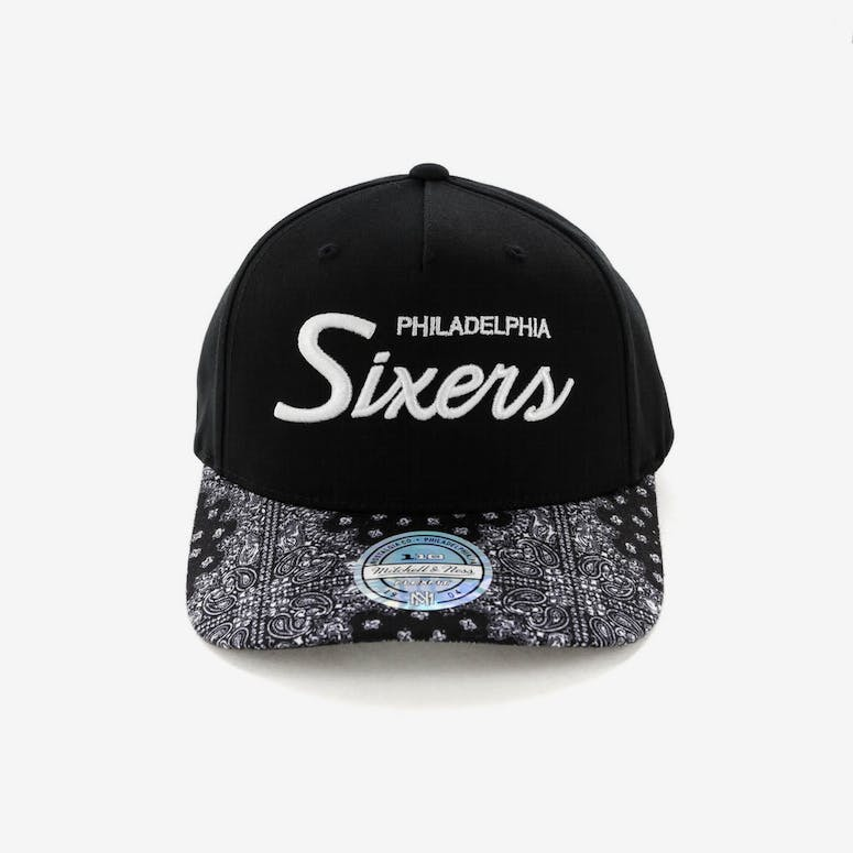 1f87b7fa063 Mitchell   Ness Philadelphia 76ers Paisley 110 Snapback Black – Culture  Kings