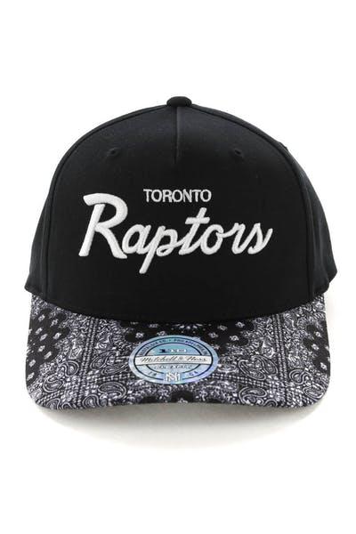 c4da469de111 Mitchell   Ness Toronto Raptors Paisley 110 Snapback Black