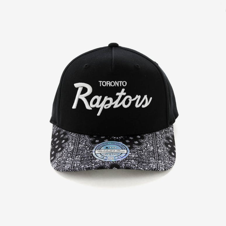 3a89d55d3b8 Mitchell   Ness Toronto Raptors Paisley 110 Snapback Black – Culture Kings