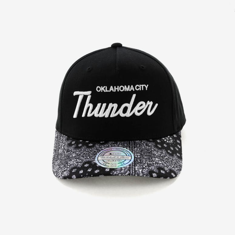 Mitchell   Ness Oklahoma City Thunder Paisley 110 Snapback Black – Culture  Kings f40c4fcd085