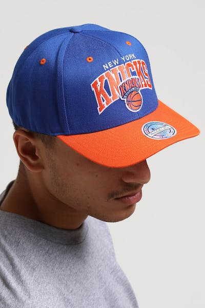 Mitchell & Ness New York Knicks HWC Arch 110 Snapback Royal/Orange