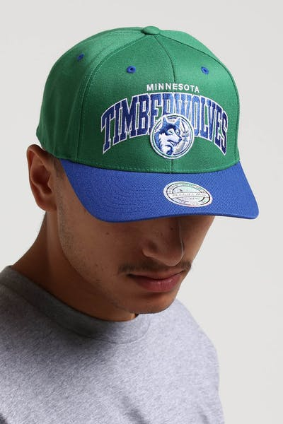 Mitchell & Ness Minnesota Timberwolves HWC Arch 110 Snapback Green/Royal