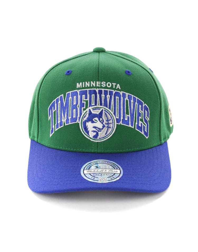 0f81eff4aca9d4 Mitchell & Ness Minnesota Timberwolves HWC Arch 110 Snapback Green/Royal