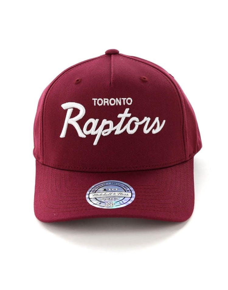 8ca6f9b73 Mitchell & Ness Toronto Raptors Basic Script 110 Snapback Maroon/White
