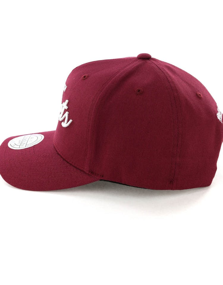 Mitchell & Ness Houston Rockets Basic Script 110 Snapback Maroon/White