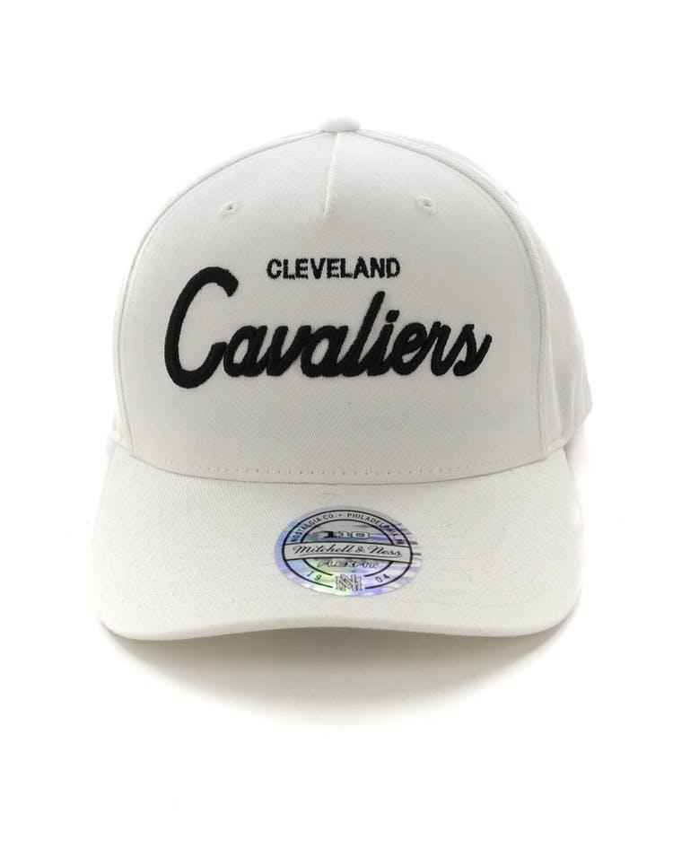 0eee805f5 Mitchell & Ness Cleveland Cavaliers Basic Script 110 Snapback White/Black