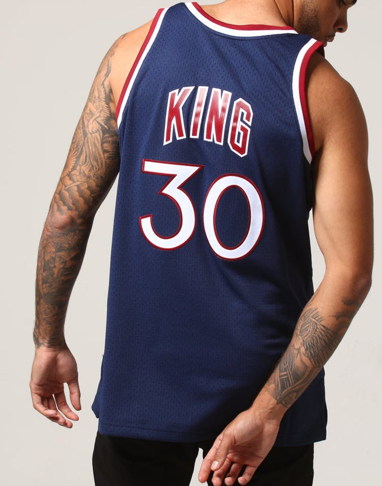 new arrival cdf42 ce699 Mitchell & Ness New York Knicks Bernard King #30 NBA Jersey Navy