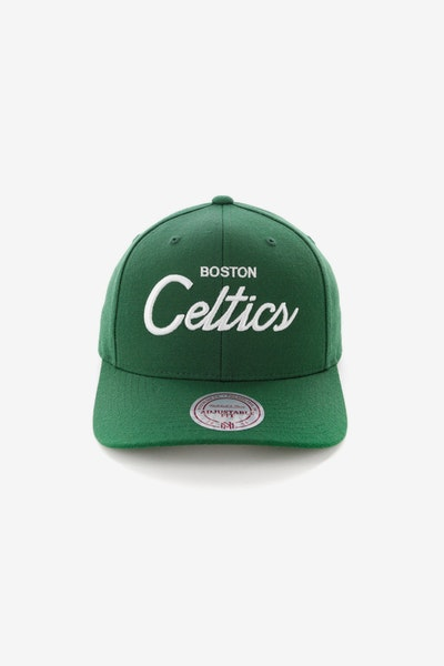 Mitchell & Ness Boston Celtics Basic Script Precurve Snapback Green/White