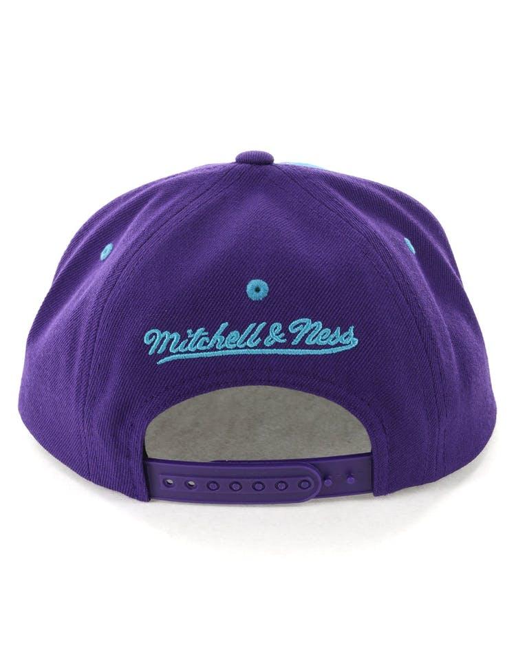 983b2440a19e8d Mitchell & Ness Charlotte Hornets Hexagon Snapback Purple/Teal ...