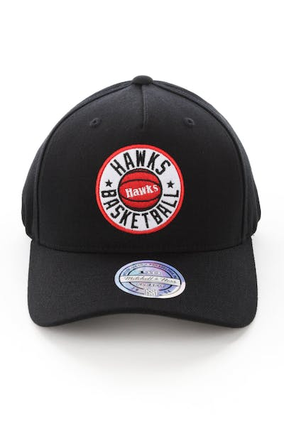 Mitchell & Ness Atlanta Hawks Full Court Logo 110 Flex Snapback Black