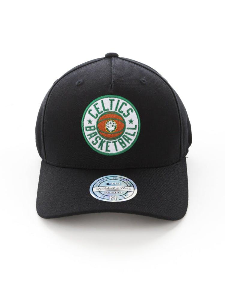 1a8dc08da Mitchell & Ness Boston Celtics Full Court Logo 110 Flex Snapback Black